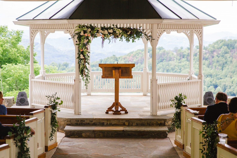 Wedding Ceremony Site details Waynesville NC Wedding Photographers