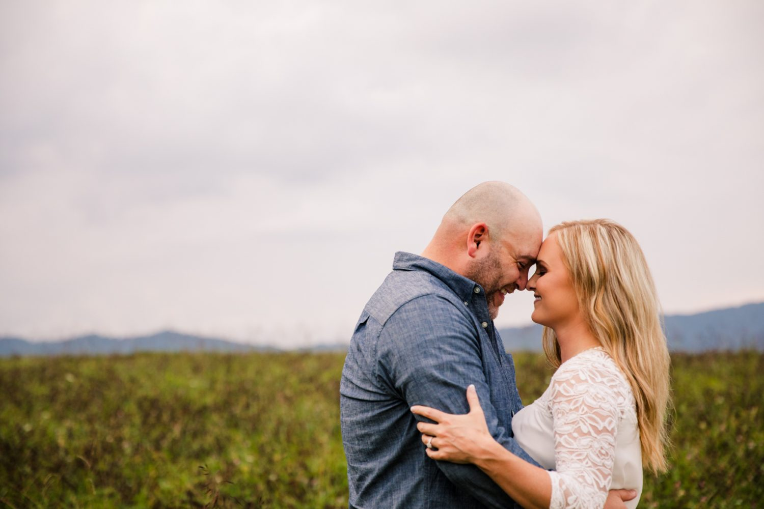 Engagement Portrait Session in the Mountains The Farm - A Gathering Place Candler NC Wedding Photography