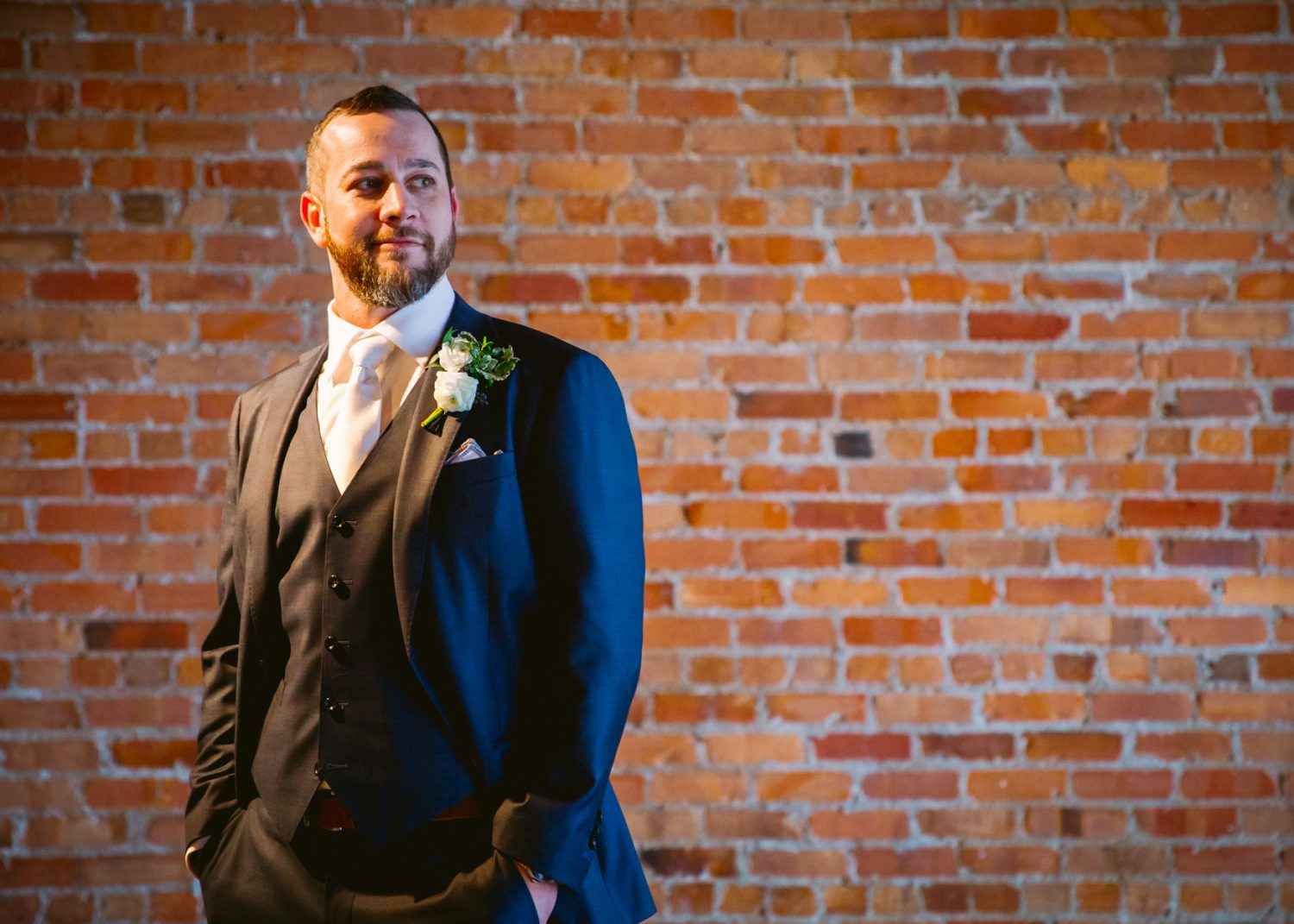 Wedding Groom Portrait The Venue Asheville NC Wedding Photography