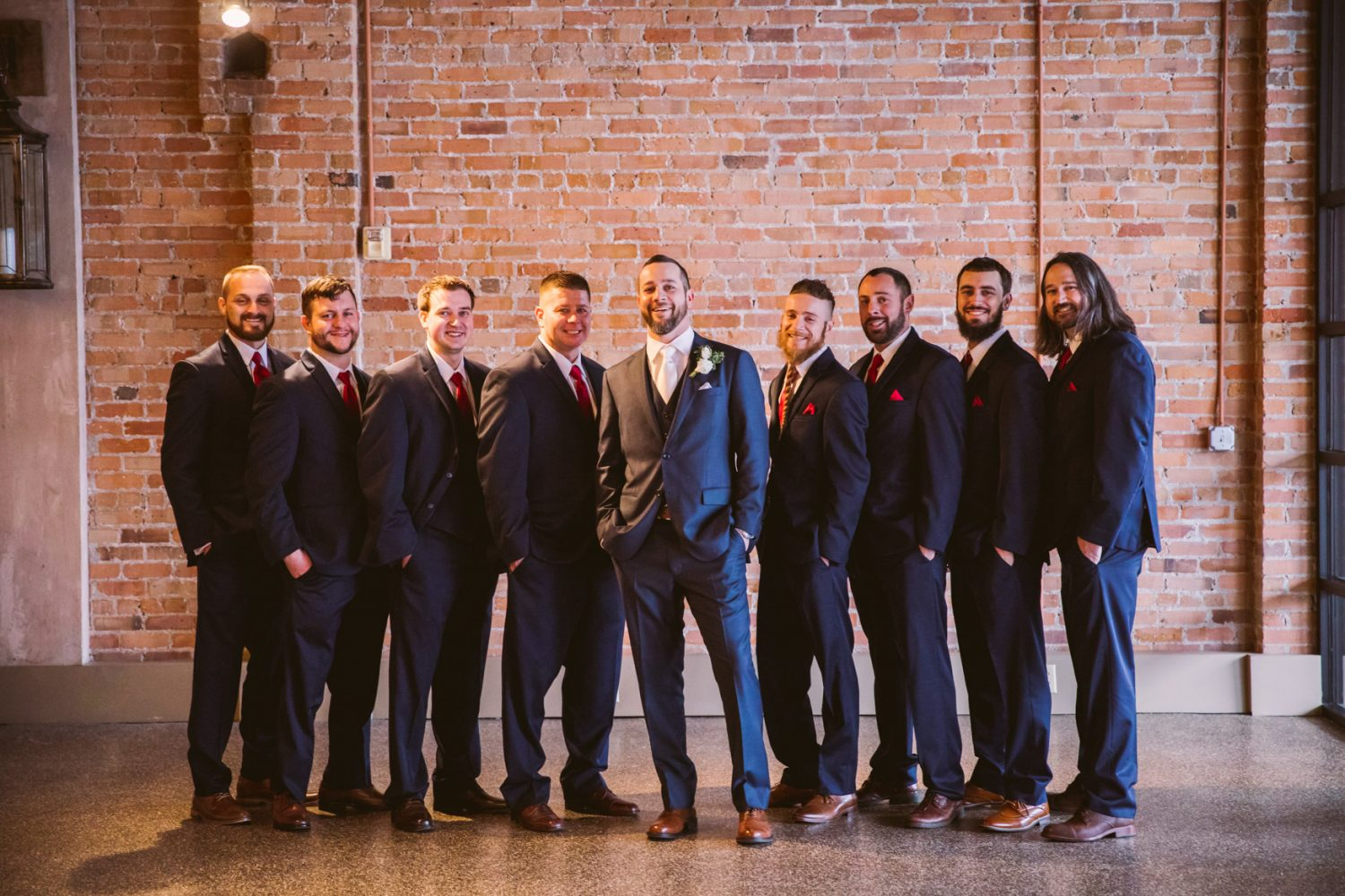 Wedding Groomsmen Portrait The Venue Asheville NC Wedding Photography