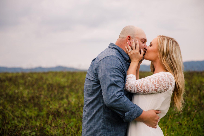 Blue Ridge Mountains Engagement Portraits The Farm - A Gathering Place Candler NC Wedding Photography