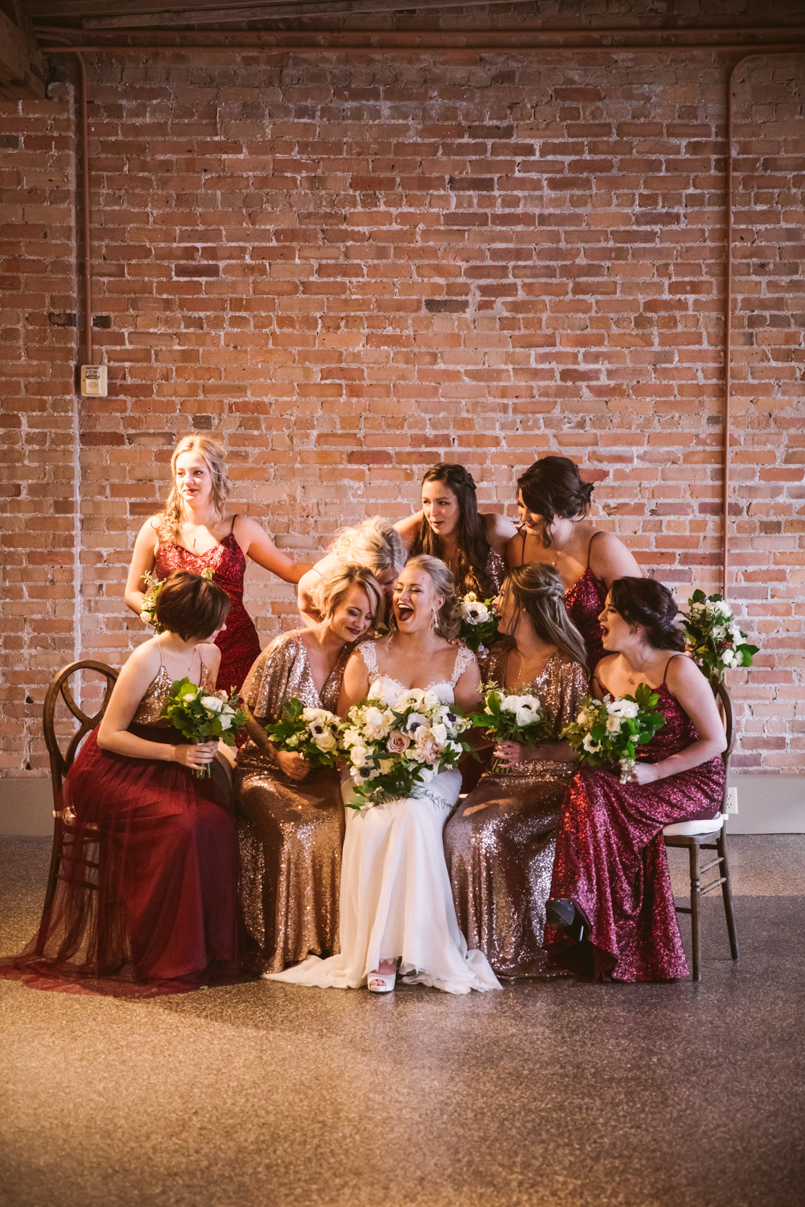 Wedding Bridesmaids Portrait The Venue Asheville NC Wedding Photography
