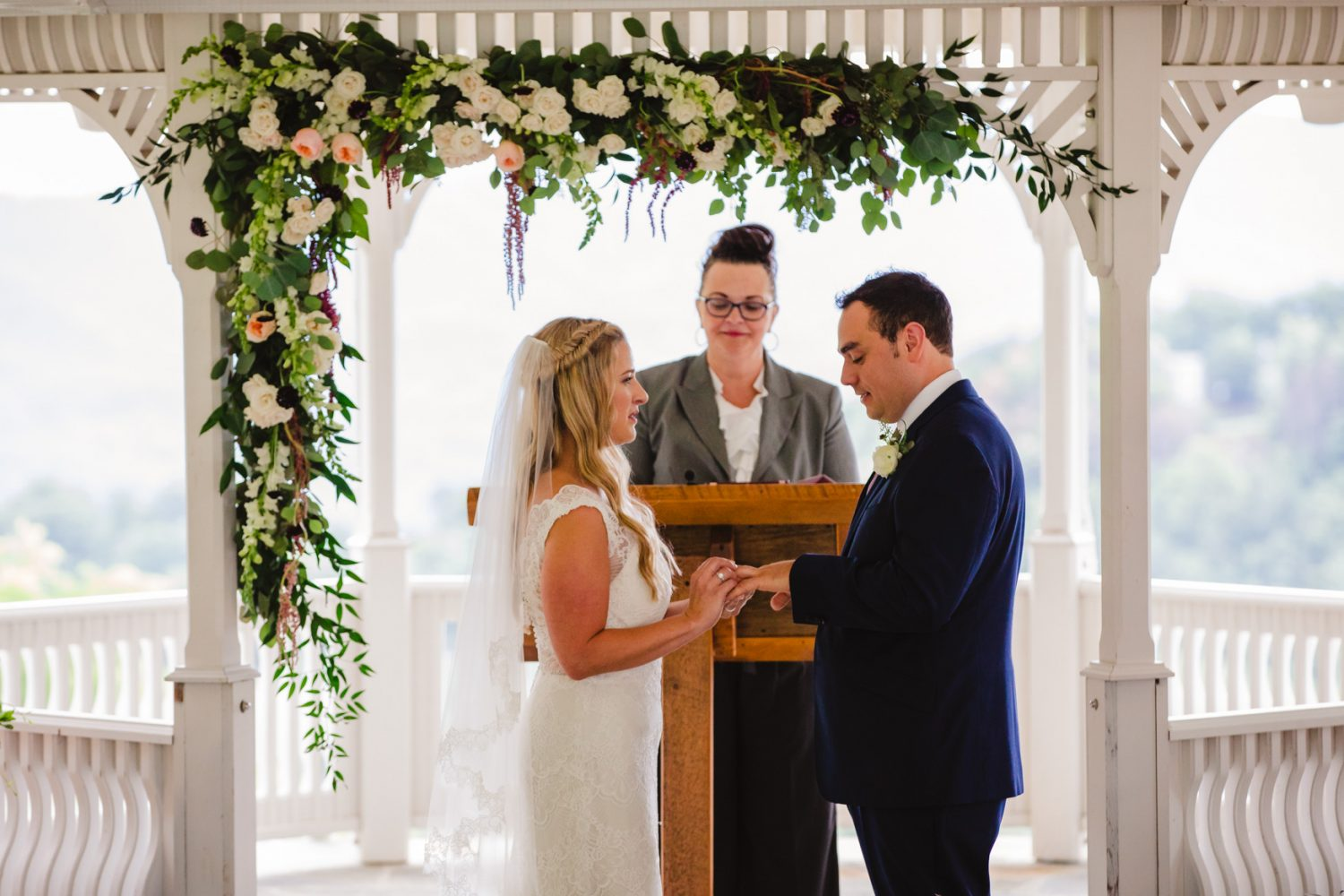 Exchanging of the Rings Waynesville NC Wedding Photographers