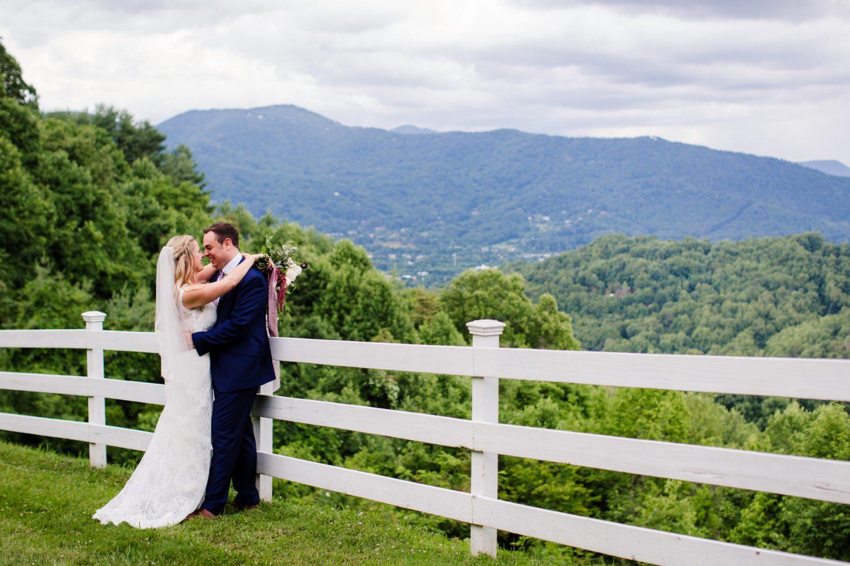 Wedding Couples Portrait Waynesville NC Wedding Photographers