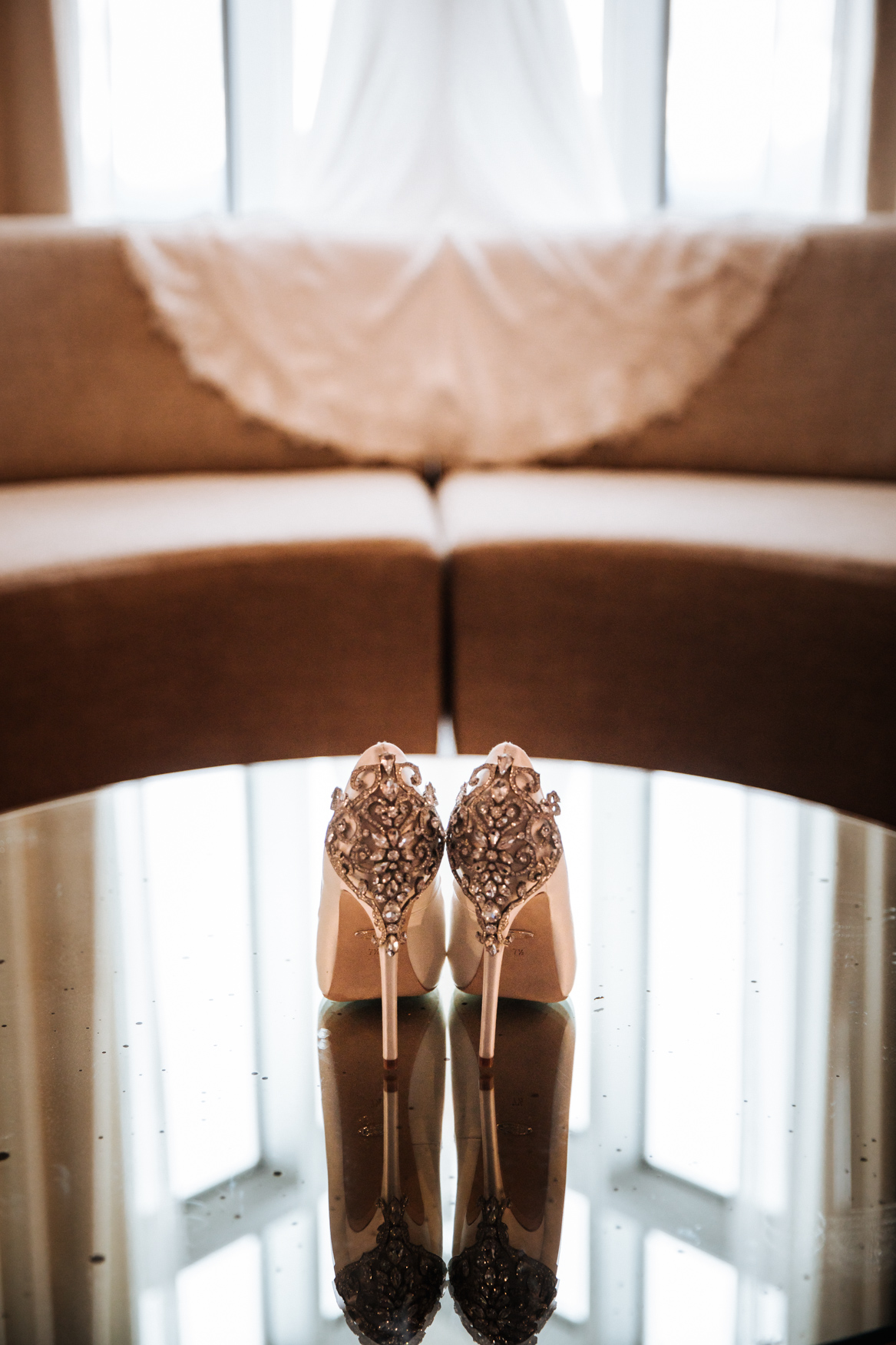 Wedding Bridal Shoes Detail Asheville NC Wedding Photography