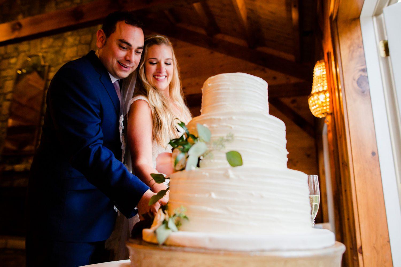 Wedding Cake Cutting Waynesville NC Wedding Photographers