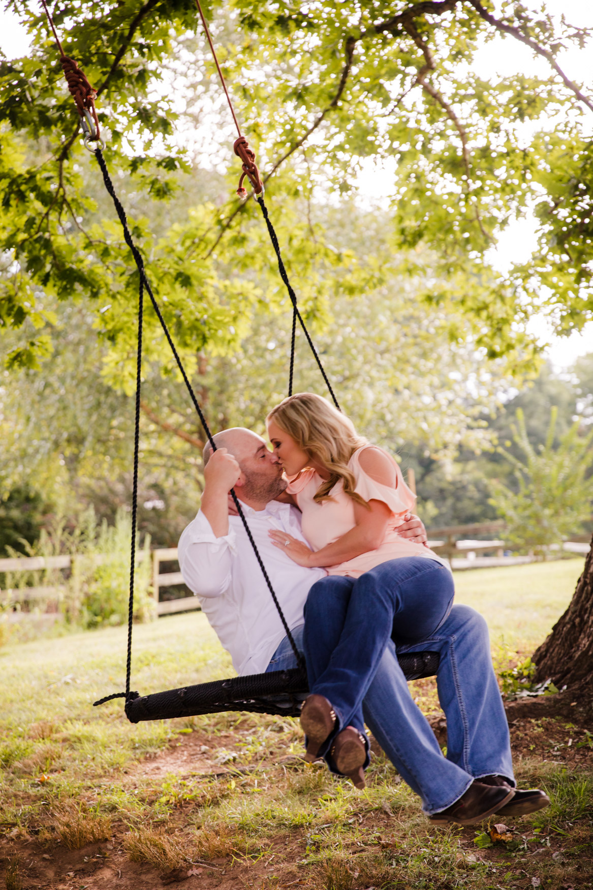 Engagement Session Swinging The Farm - A Gathering Place Candler NC Wedding Photography