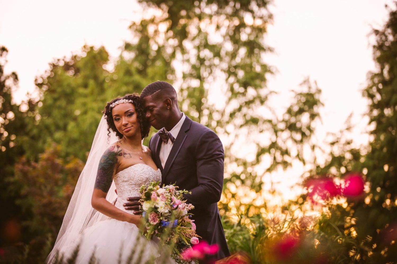 Waynesville Wedding Photography | Wedding Couples Portrait Sunset