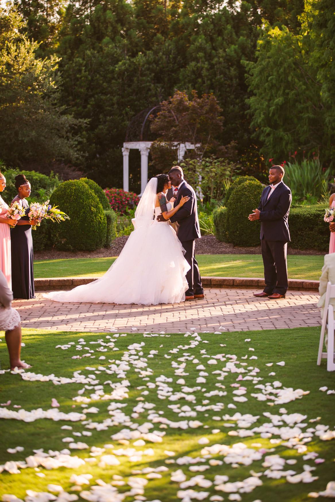 Waynesville Wedding Photography | Wedding Ceremony Kiss