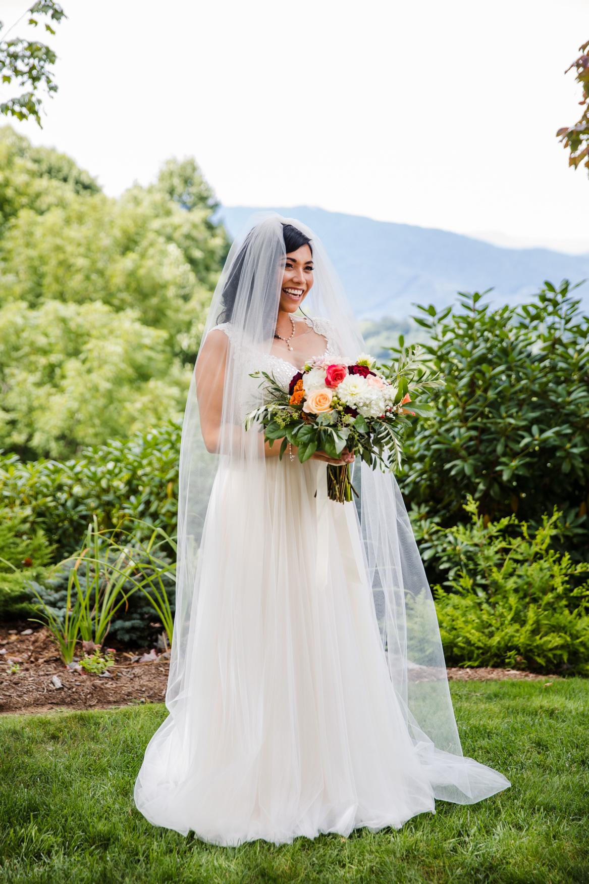 Bridal Portrait Waynesville NC Wedding Photography Inn at Tranquility Farm