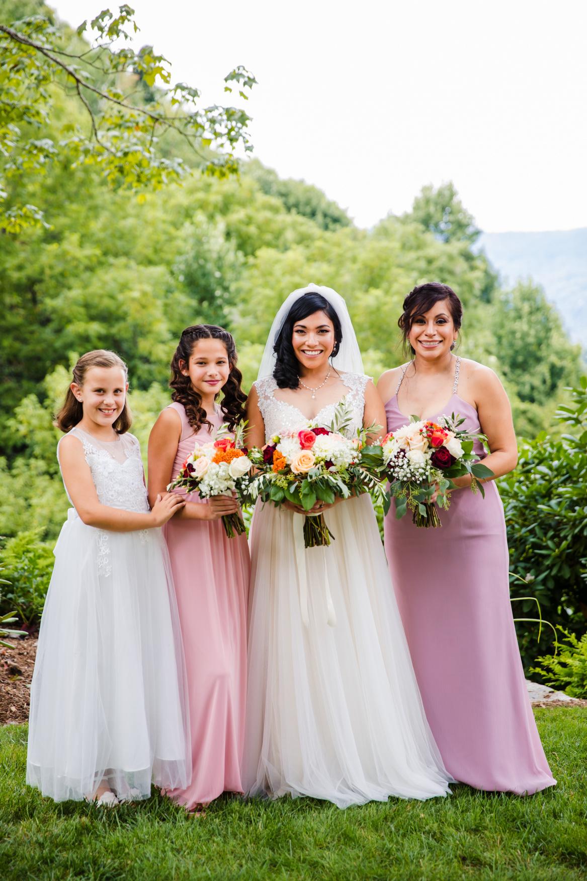 Bridesmaid Portrait Waynesville NC Wedding Photography Inn at Tranquility Farm