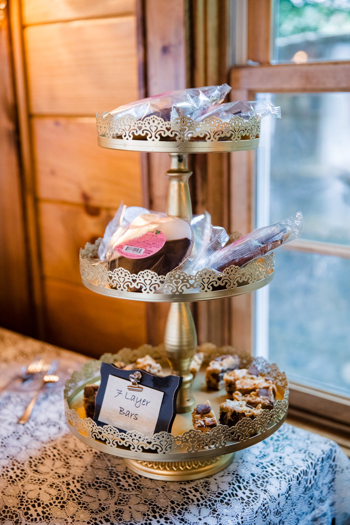 Sweet Treats and 7 Layer Bars Waynesville NC Wedding Photography Inn at Tranquility Farm