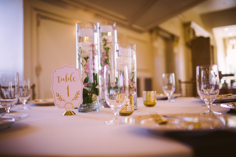 Waynesville Wedding Photography | Reception Table Centerpiece