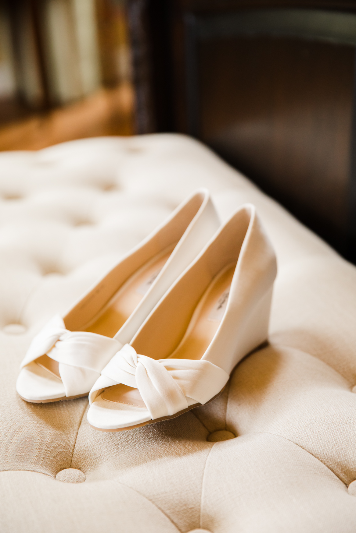 Bridal Shoes Detail Waynesville NC Wedding Photography Inn at Tranquility Farm