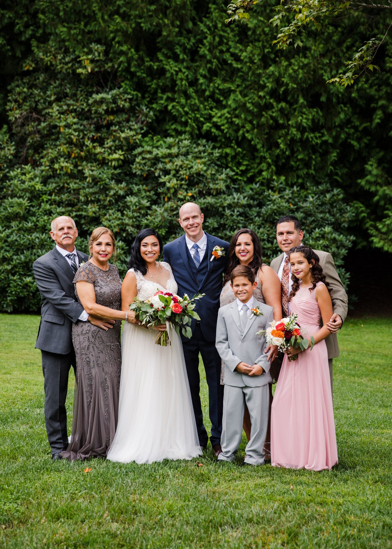 Wedding Family Portrait Waynesville NC Wedding Photography Inn at Tranquility Farm