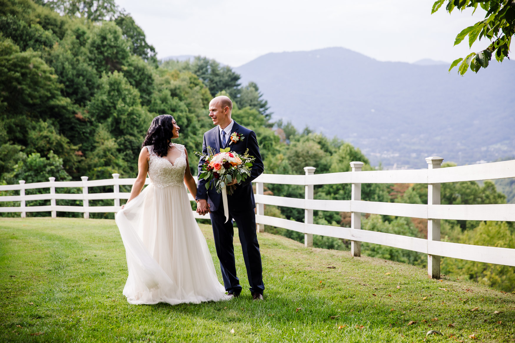 Couples Portrait Waynesville NC Wedding Photography Inn at Tranquility Farm