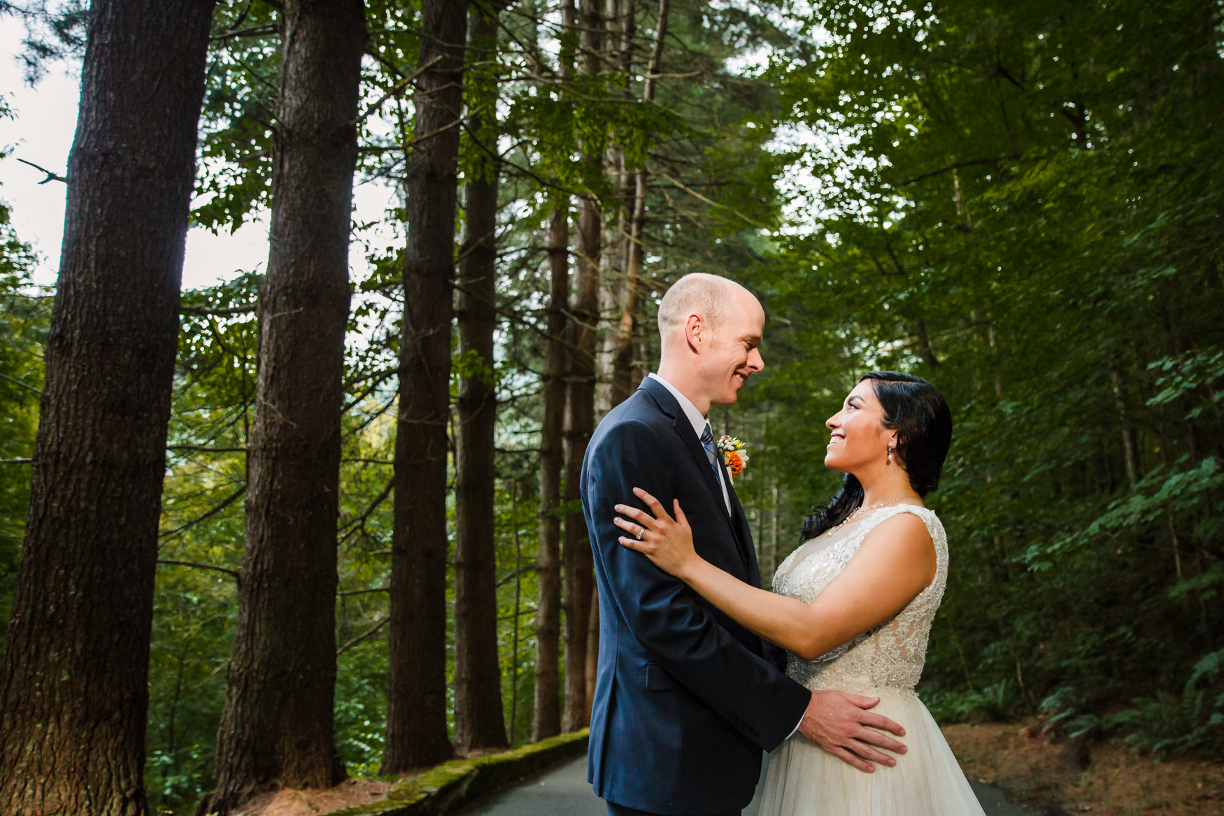 Couples Portrait in the Forest Waynesville NC Wedding Photography