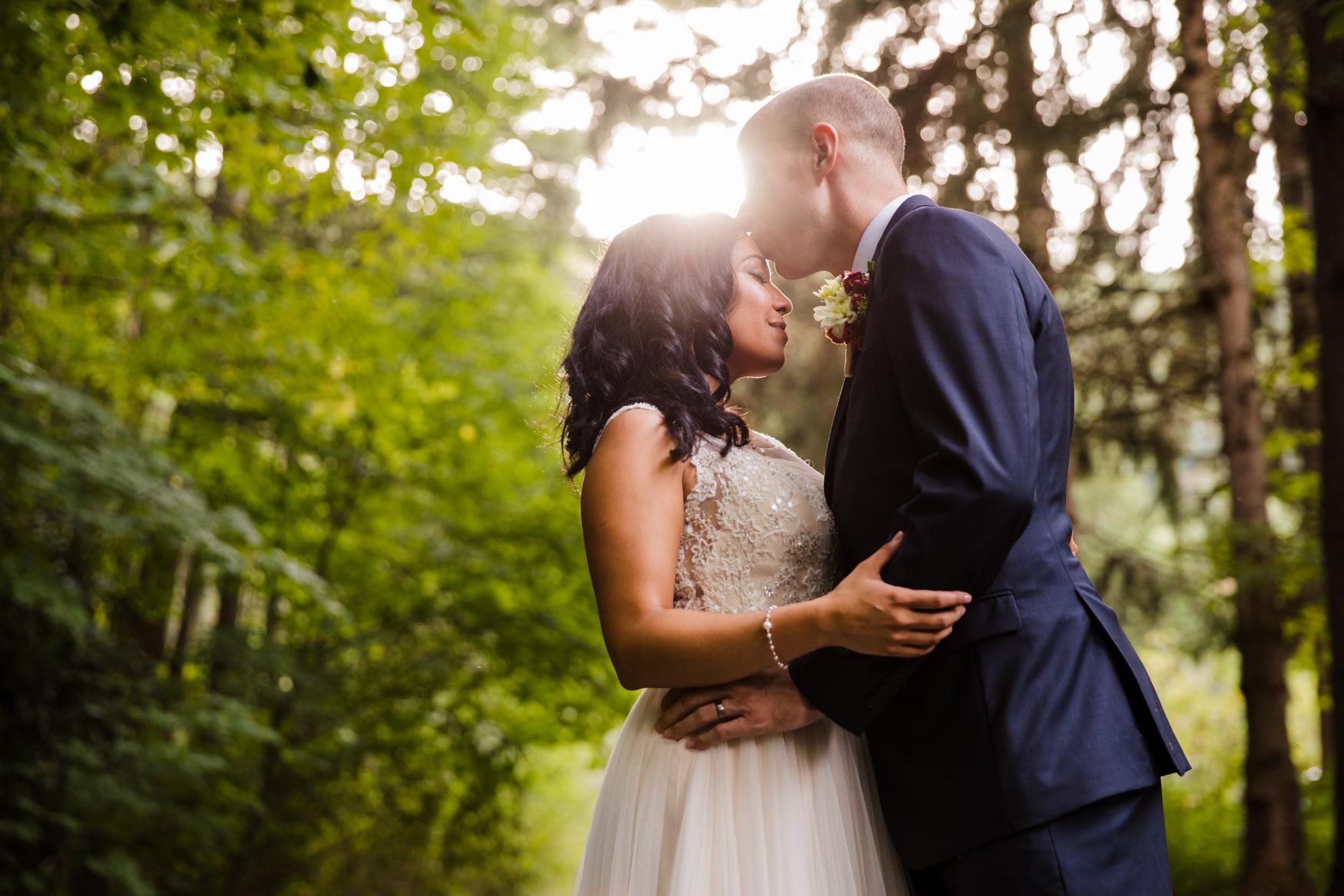 Bride and Groom Portrait Waynesville NC Wedding Photography