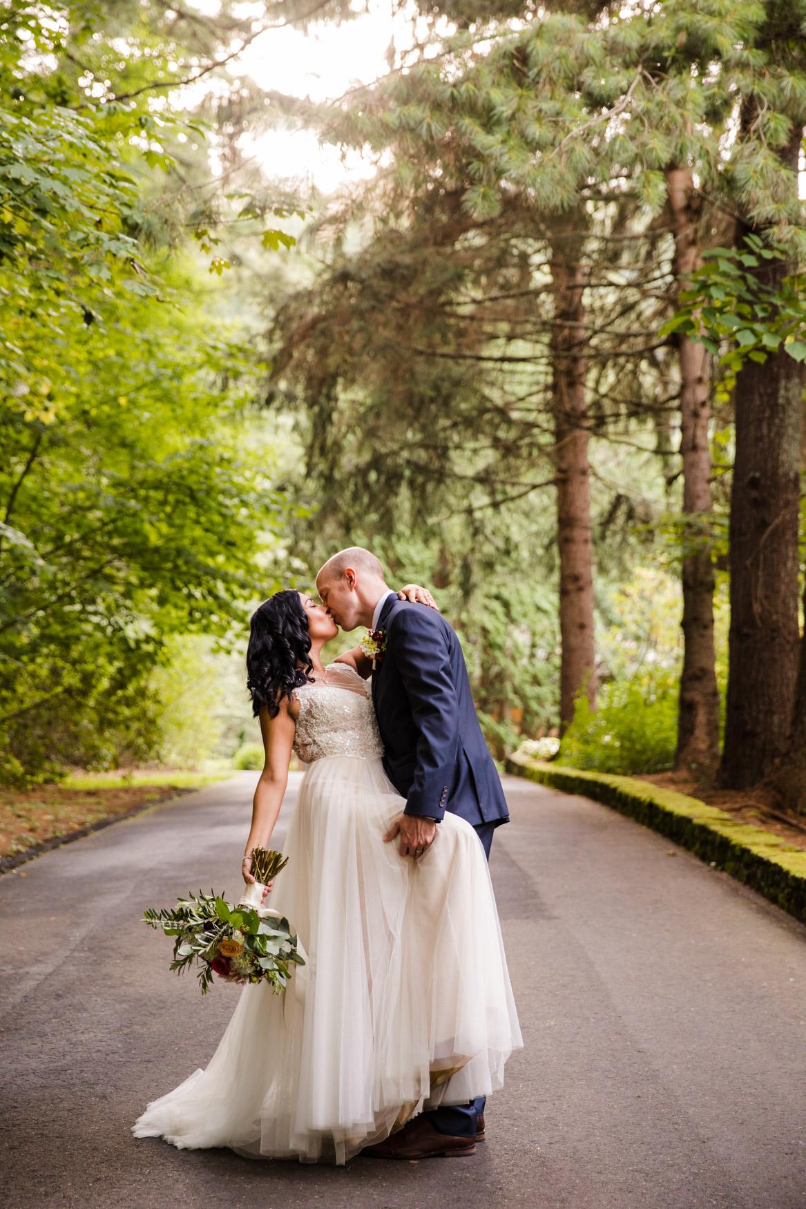 Sunset Portrait Kissing Waynesville NC Wedding Photography