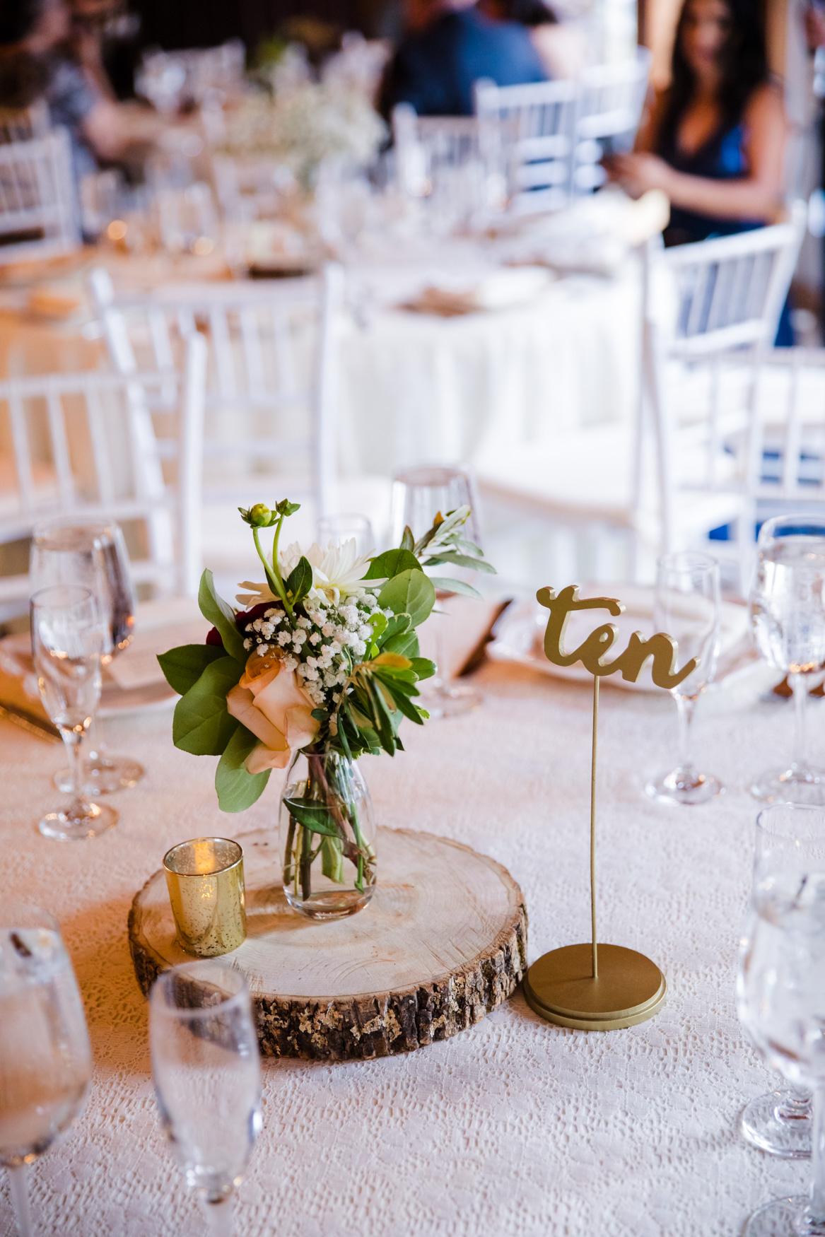 Table Centerpiece Waynesville NC Wedding Photography Inn at Tranquility Farm