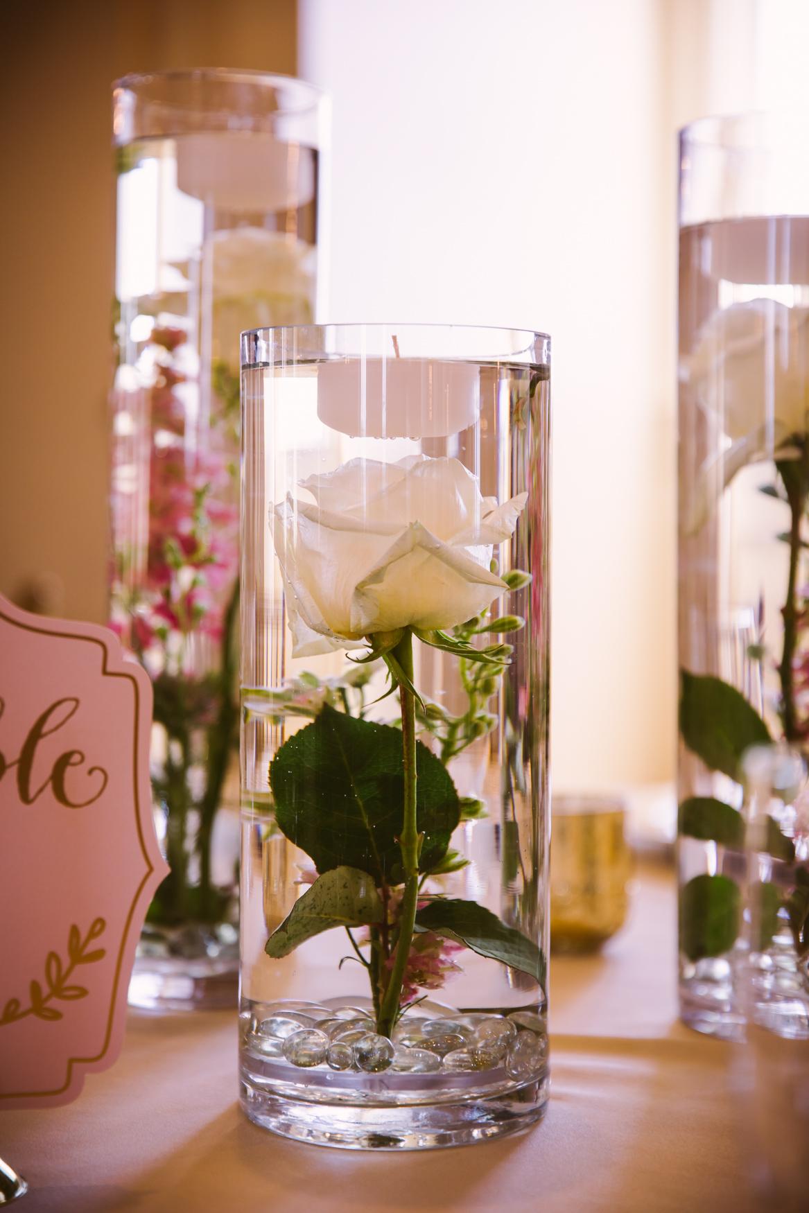 Waynesville Wedding Photography | Flower in Vase Table Centerpiece