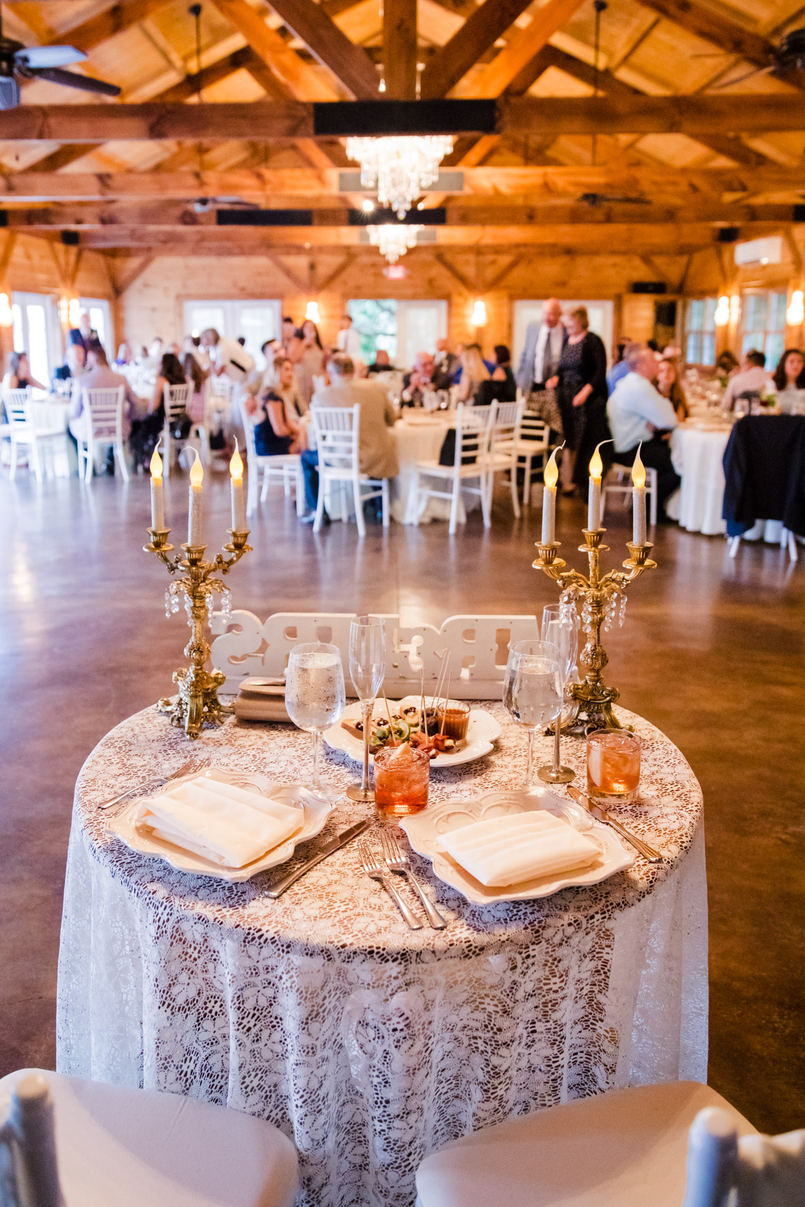 Reception Sweetheart Table Waynesville NC Wedding Photography Inn at Tranquility Farm