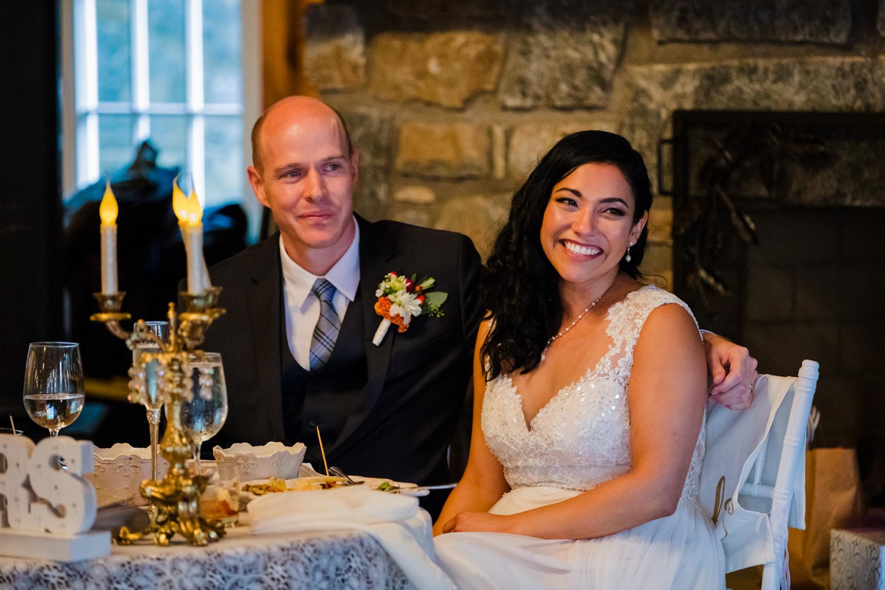 Reception Toast Waynesville NC Wedding Photography Inn at Tranquility Farm