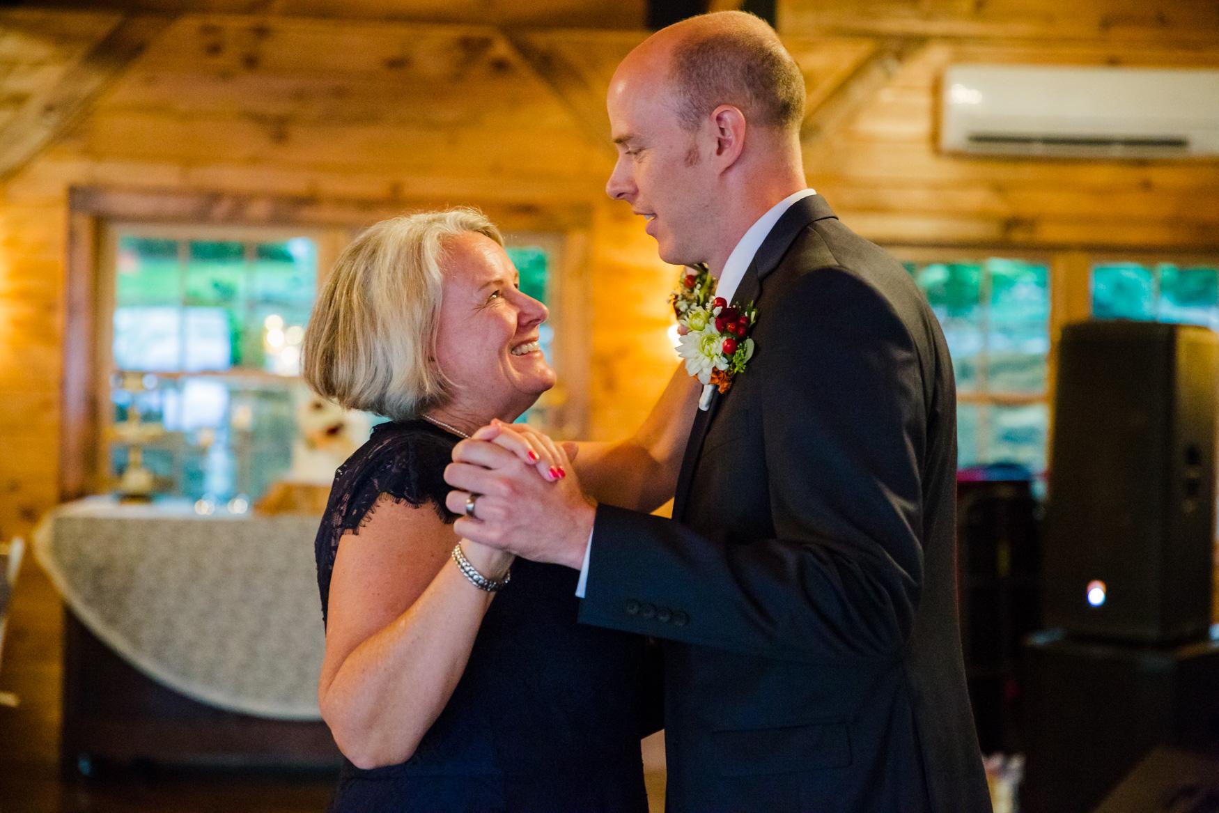Mother Son Dance Waynesville NC Wedding Photography Inn at Tranquility Farm