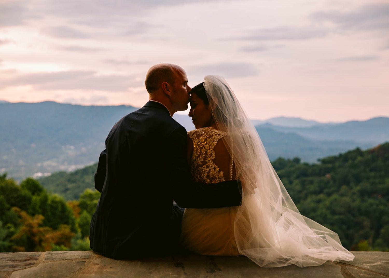 Sunset Portrait Waynesville NC Wedding Photography