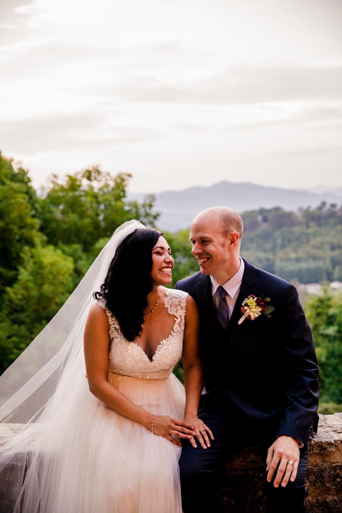 Laughing Sunset Portrait Waynesville NC Wedding Photography