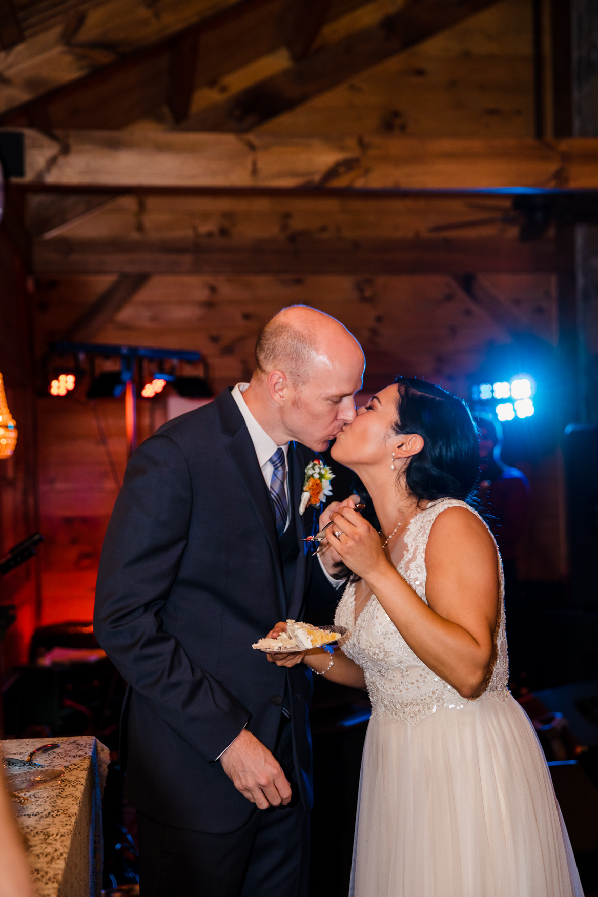 Cake Cutting Waynesville NC Wedding Photography Inn at Tranquility Farm