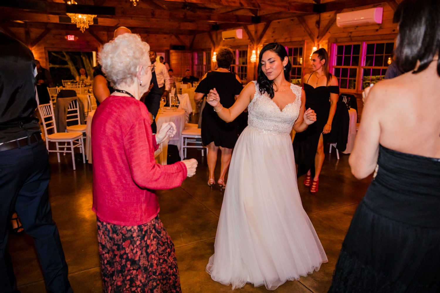 Bride Dancing with Grandma Waynesville NC Wedding Photography Inn at Tranquility Farm