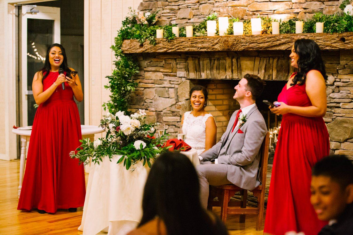 Waynesville NC Wedding Photography | Wedding Reception Siblings Speeches
