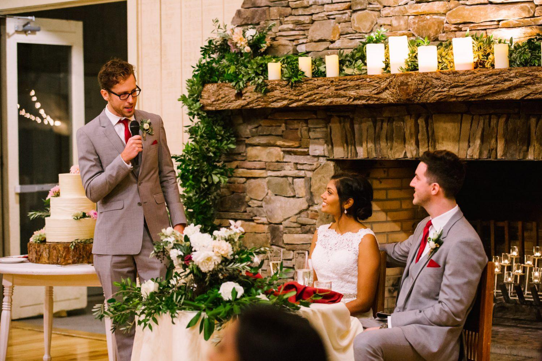 Waynesville NC Wedding Photography | Reception Best Man Speech