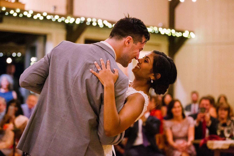 Waynesville NC Wedding Photography | Bride and Groom First Dance Dip