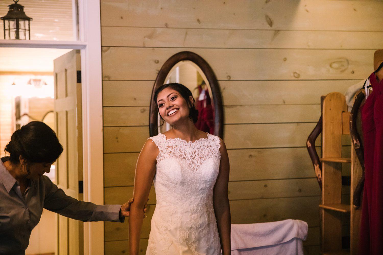 Waynesville NC Wedding Photography | Bride Getting Dressed
