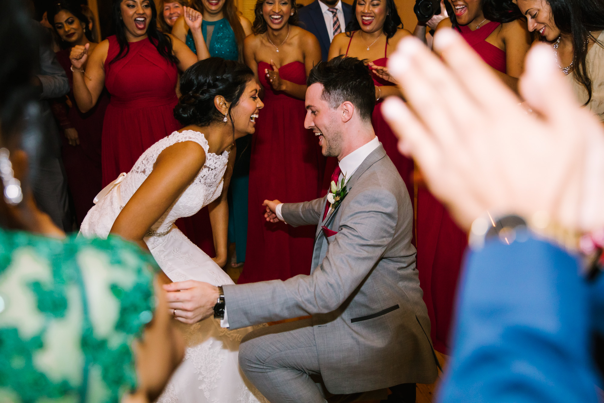 Waynesville NC Wedding Photography | Bride and Groom Dropping it low
