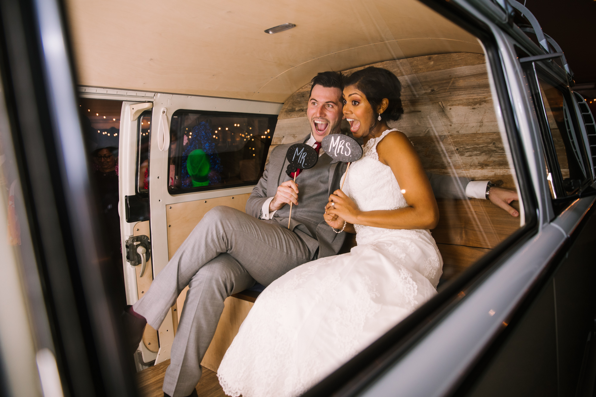 Waynesville NC Wedding Photography | Bride and Groom in Photo Booth