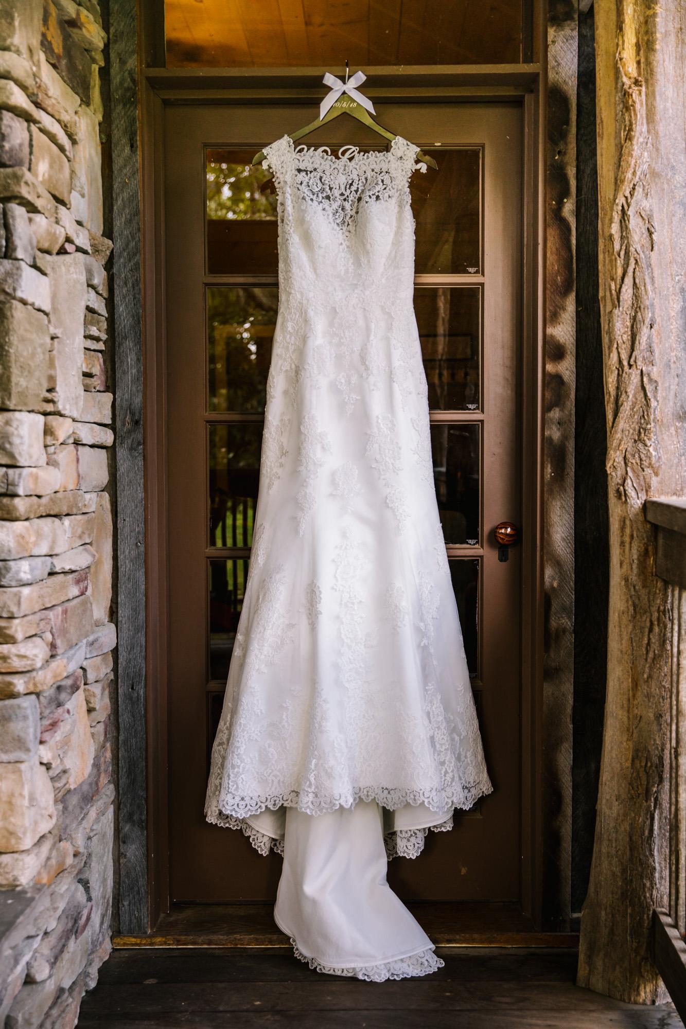 Waynesville NC Wedding Photography | Wedding Dress Detail