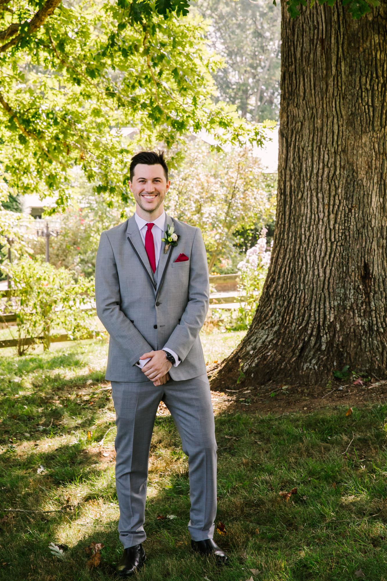 Waynesville NC Wedding Photography | Groom Solo Portrait Full Body