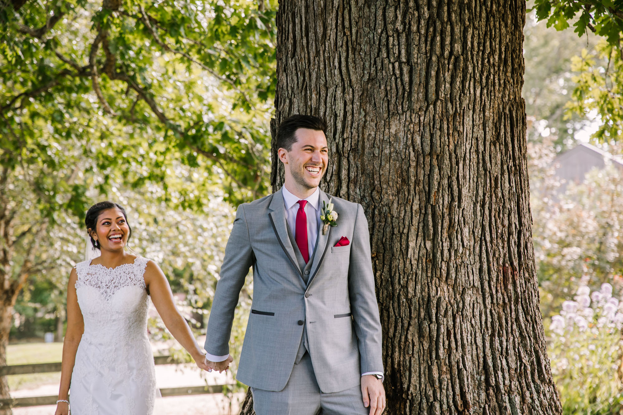 Waynesville NC Wedding Photography | Bride and Groom First Touch