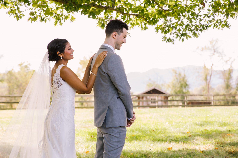 Waynesville NC Wedding Photography | First Touch Portrait
