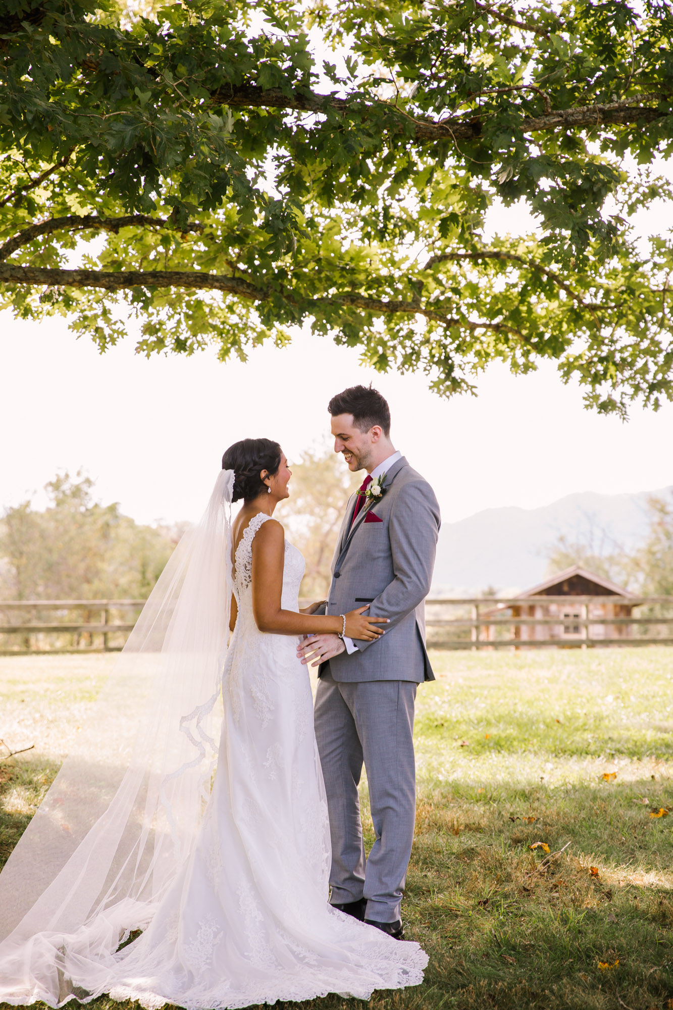 Waynesville NC Wedding Photography | Bride and Groom First Look