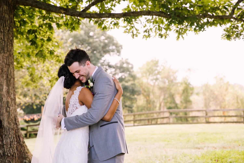 Waynesville NC Wedding Photography | First Look Embrace