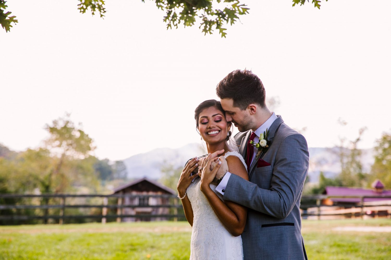 Waynesville NC Wedding Photography | Bride and Groom Portrait