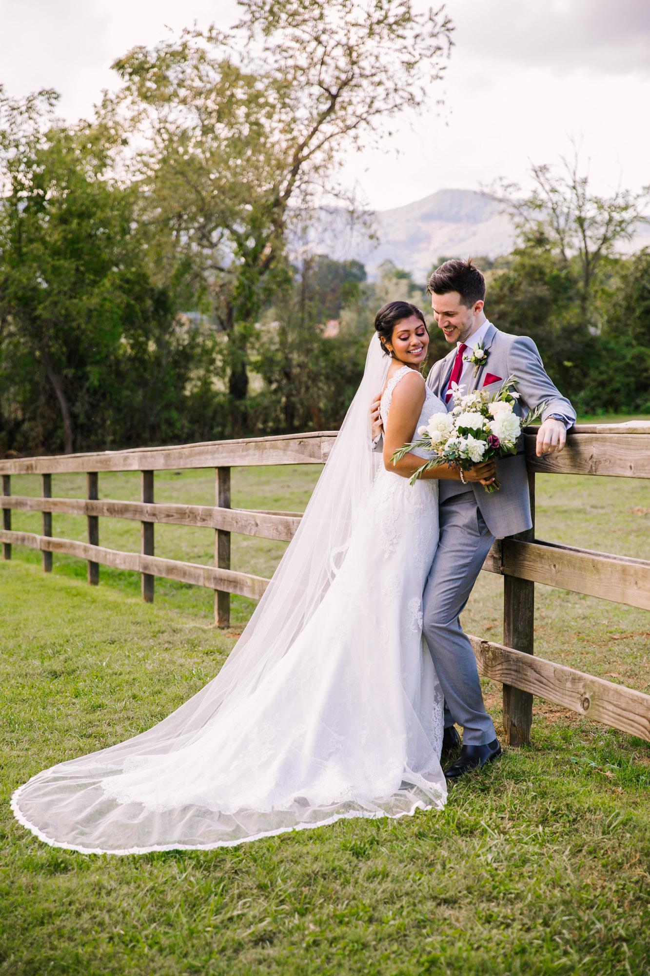 Waynesville NC Wedding Photography | Bride and Groom on the Farm