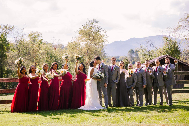Waynesville NC Wedding Photography | Bridal Party Photo