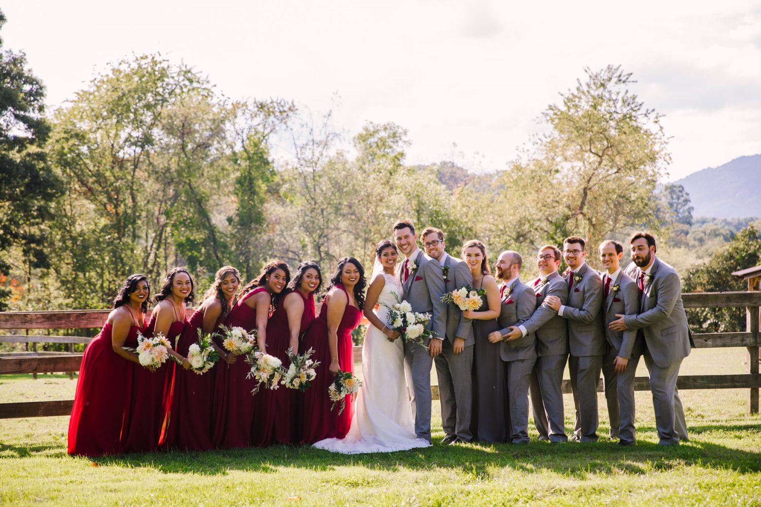 Waynesville NC Wedding Photography | Bridal Party Hugging in