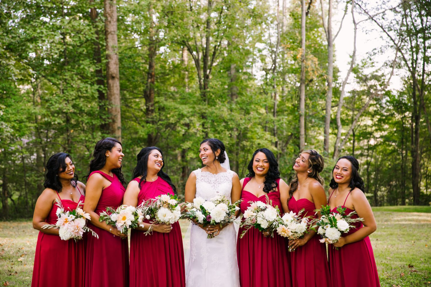 Waynesville NC Wedding Photography | Bridesmaids Portrait Laughing