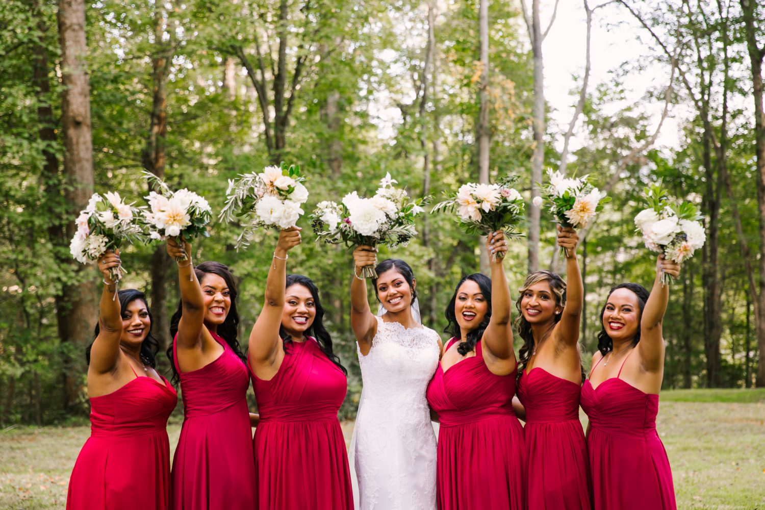 Waynesville NC Wedding Photography | Bouquets in the Air